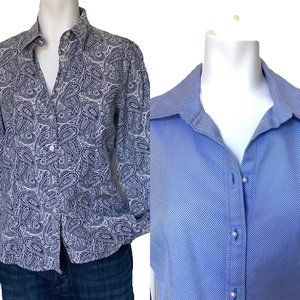 Talbots Bundle Tailored Packable Career Blouses M